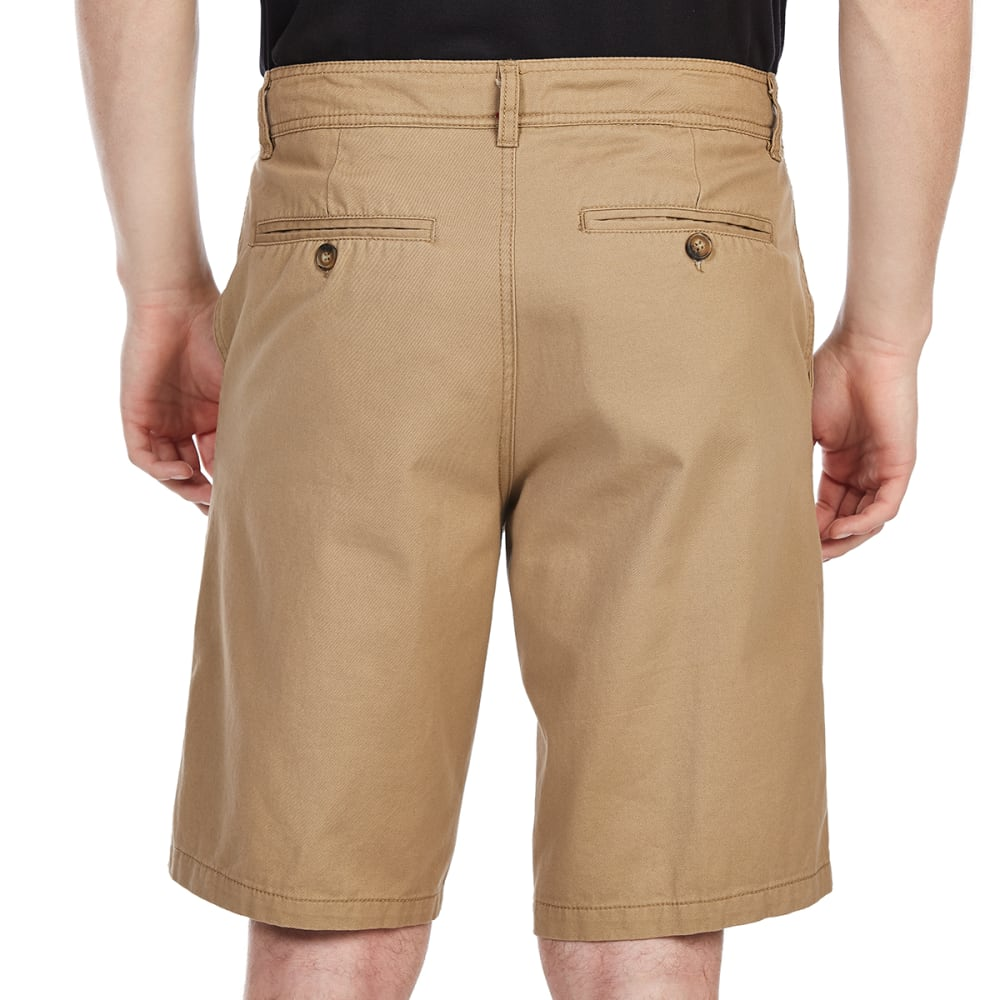BCC Men's Flat Front Twill Shorts - DESERT CAMEL