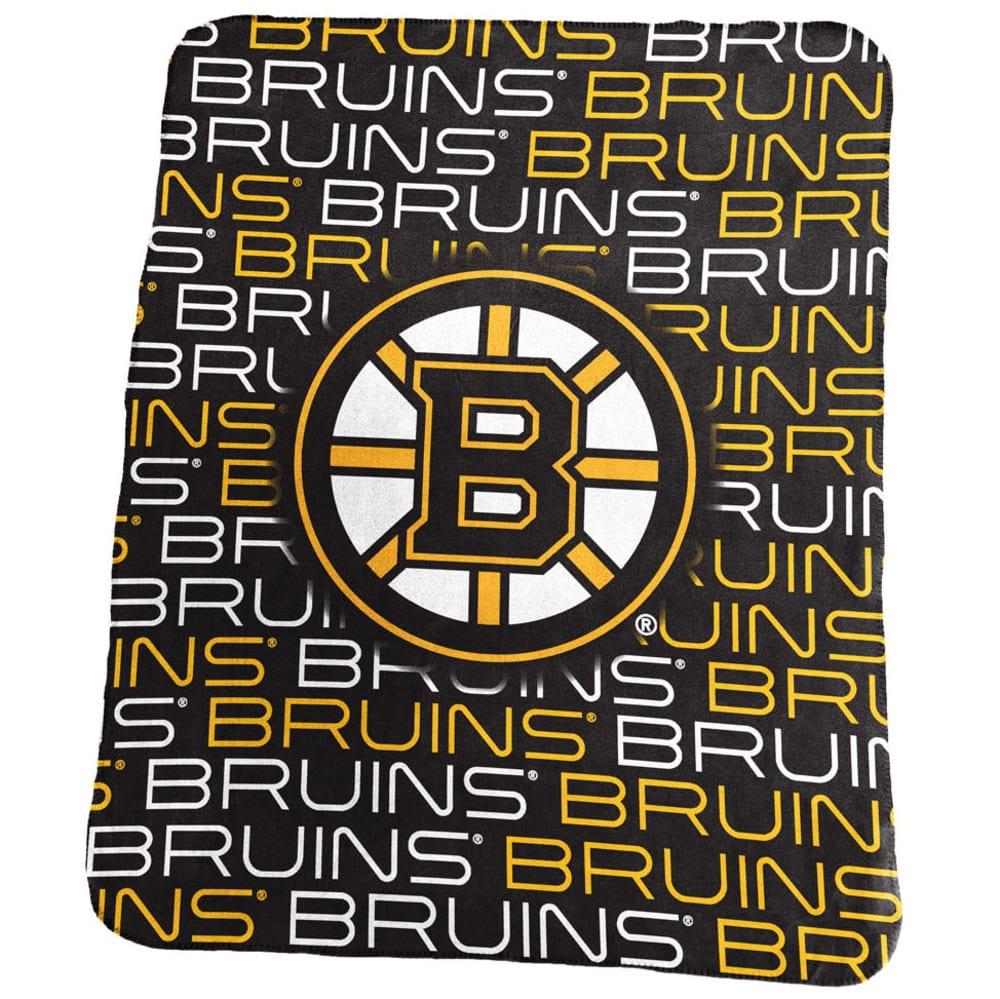 BOSTON BRUINS Classic Fleece Blanket - BLACK