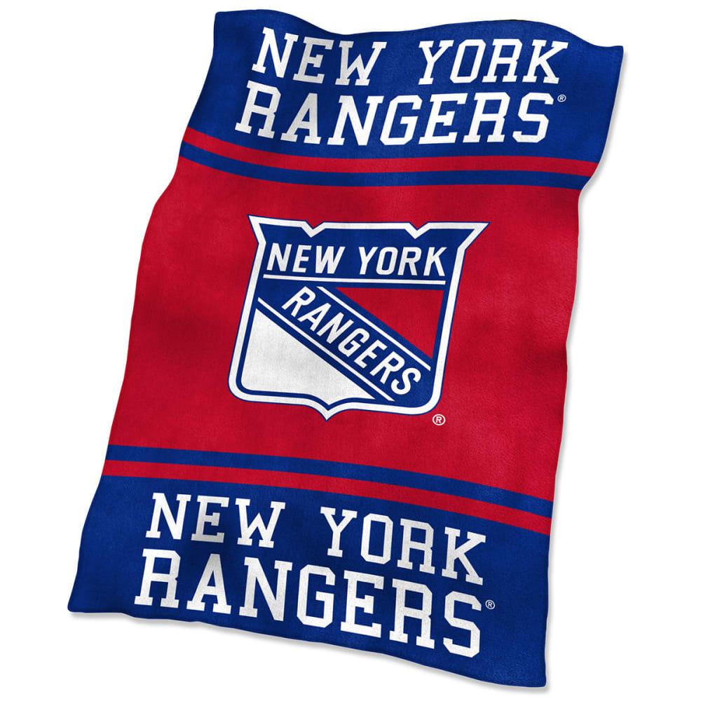 NEW YORK RANGERS UltraSoft Blanket - ROYAL BLUE