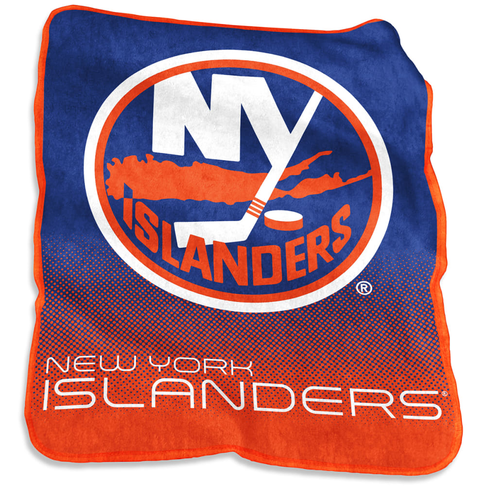 NEW YORK ISLANDERS Raschel Throw Blanket - ROYAL BLUE