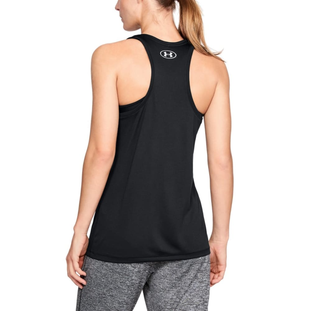 UNDER ARMOUR Women's Tech Graphic Tank - BLACK/MET GOLD-001
