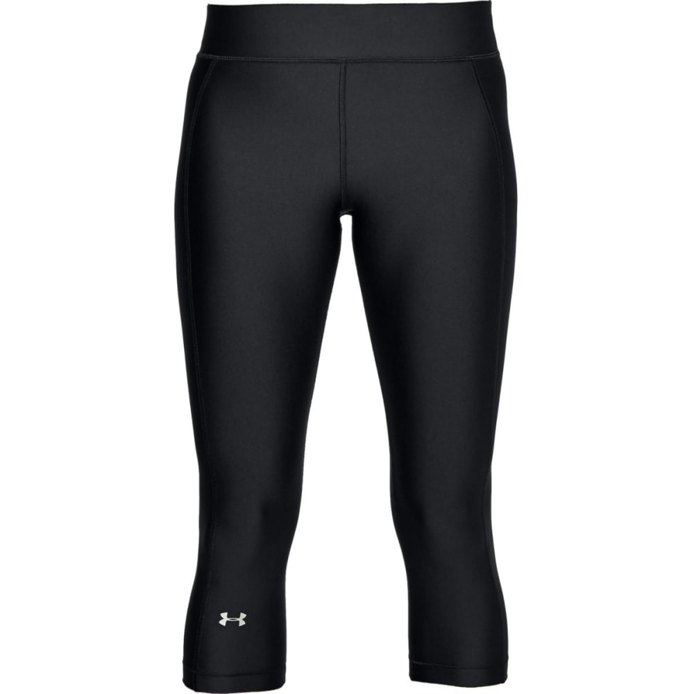 UNDER ARMOUR Women's HeatGear Armour Capri Leggings - BLACK-001