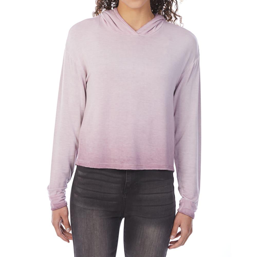 PINK ROSE Juniors' Tie-Dye Pullover Hoodie - RUM RAISIN