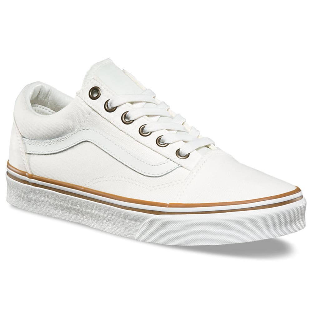 Vans Unisex Old Skool Skate Shoes - White, 7