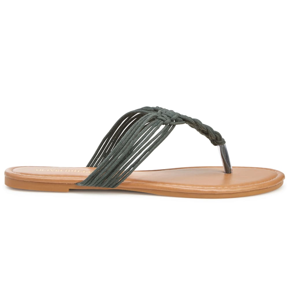 311918e6261d Olivia Miller Women s Woven Rope Flat Sandals