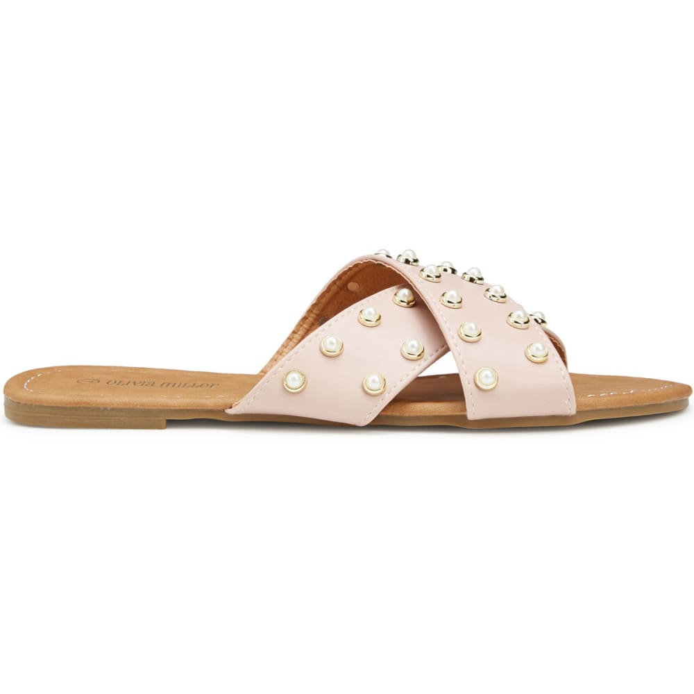 e850c97fa230 Olivia Miller Women s Pearl Crisscross Slide Sandals