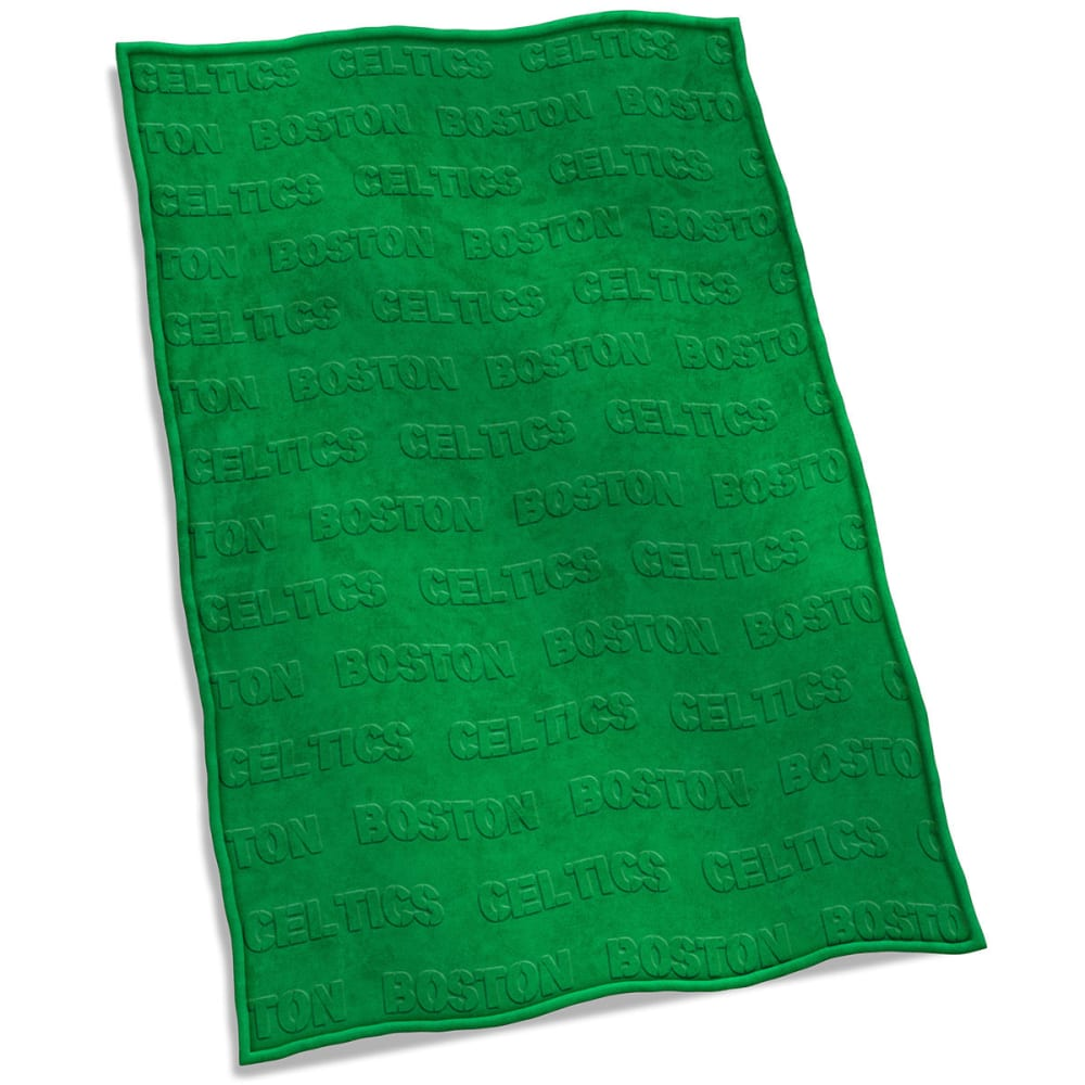 BOSTON CELTICS Embossed Blanket - GREEN