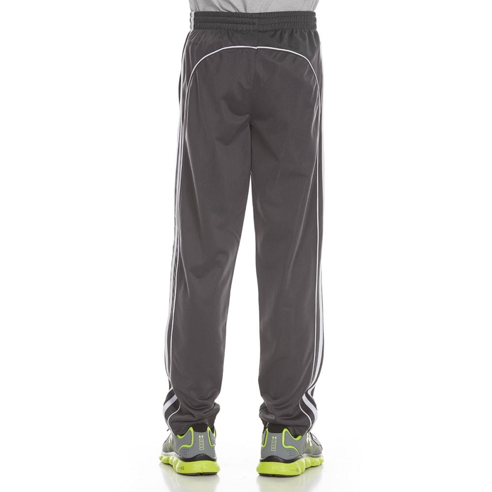 AVIA Boys' Poly Tricot Pants - DARK GREY/WHITE