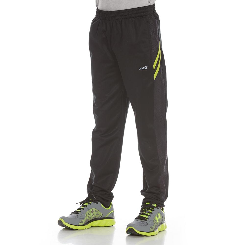 AVIA Boys' Tricot Jogger Pants - BLACK/NEON LIME