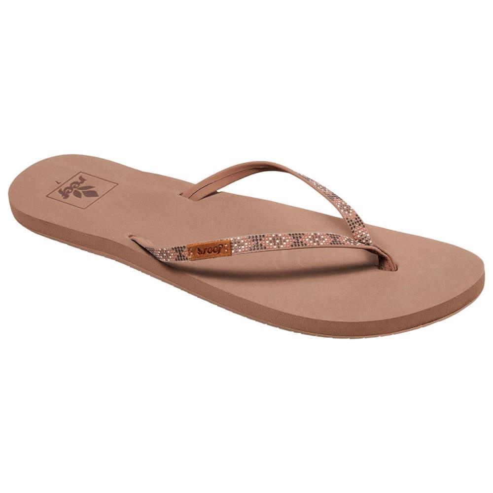 REEF Women's Slim Ginger Beads Sandals 6
