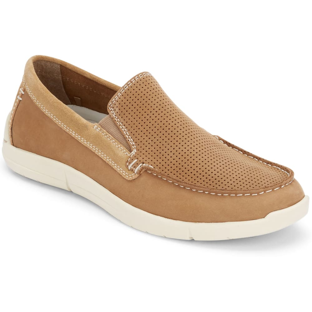 DOCKERS Men's Alcove Slip-On Boat Shoes - DARK TAN