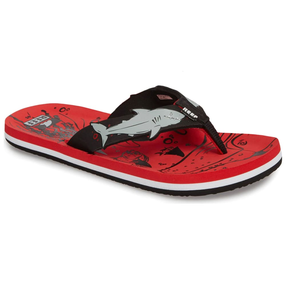 REEF Children's AHI SHARK Sandals 9/10