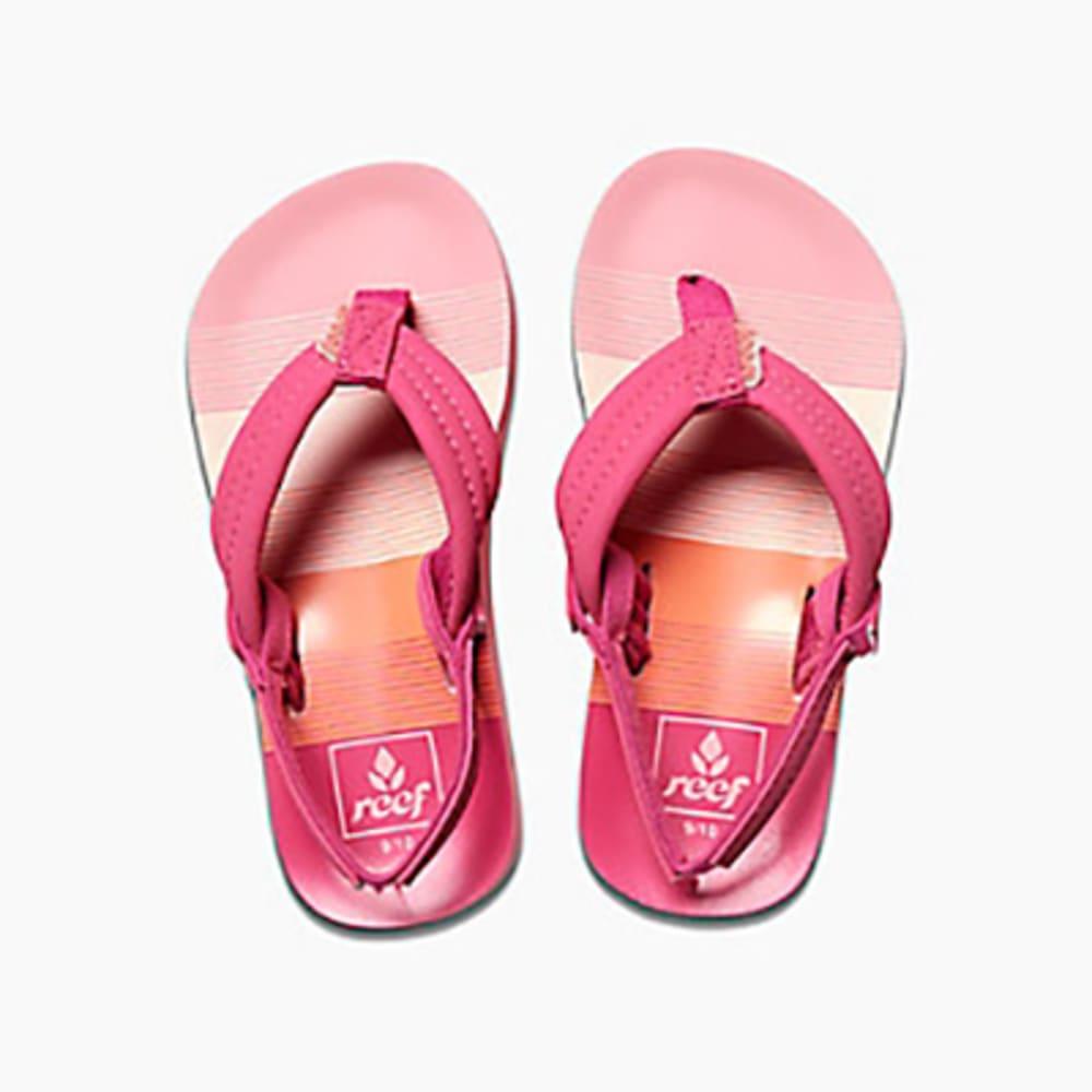 REEF Girl's Little Ahi Sandals - PINK STRIPES-PSR
