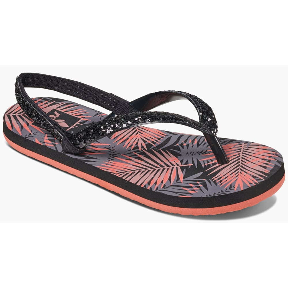 REEF Little Girls' Little Stargazer Prints Sandals - BLACK TROPIC