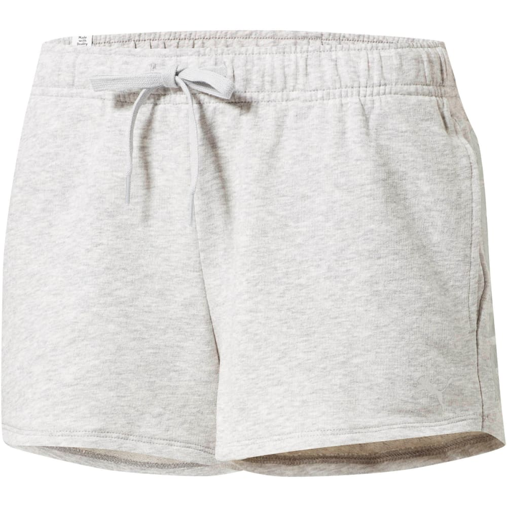 PUMA Women's Summer Shorts - LT GREY HEATHER-04