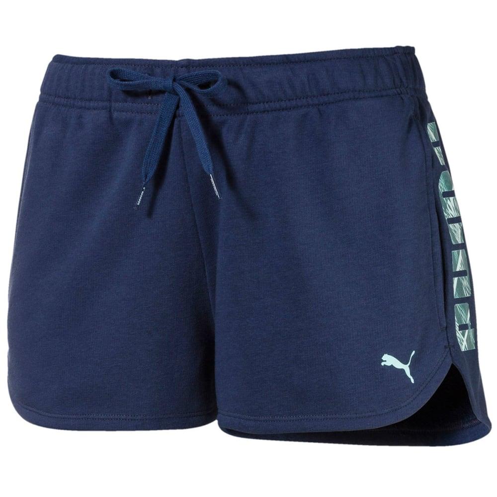 Puma Women's Summer Shorts - Blue, L
