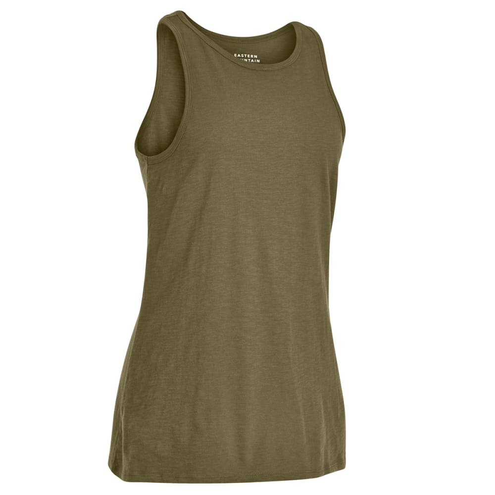 EMS Women's Solid Organic Slub Tank Top - MARTINI OLIVE