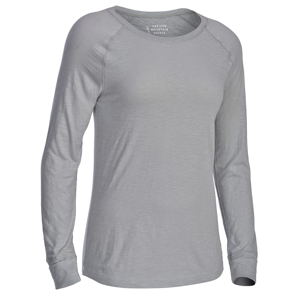 EMS Women's Solid Organic Slub Long-Sleeve Tee - LIGHT GREY HEATHER