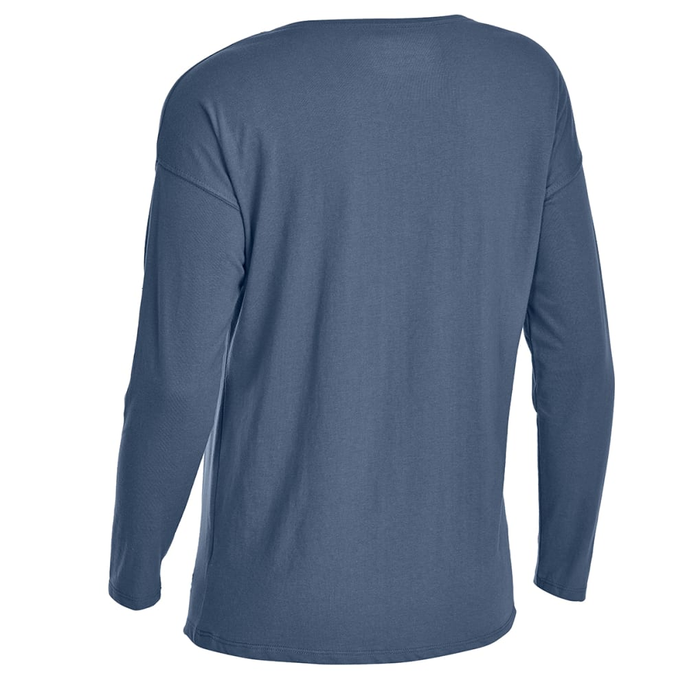 EMS Women's Scoop Knit Long-Sleeve Tee - VINTAGE INDIGO