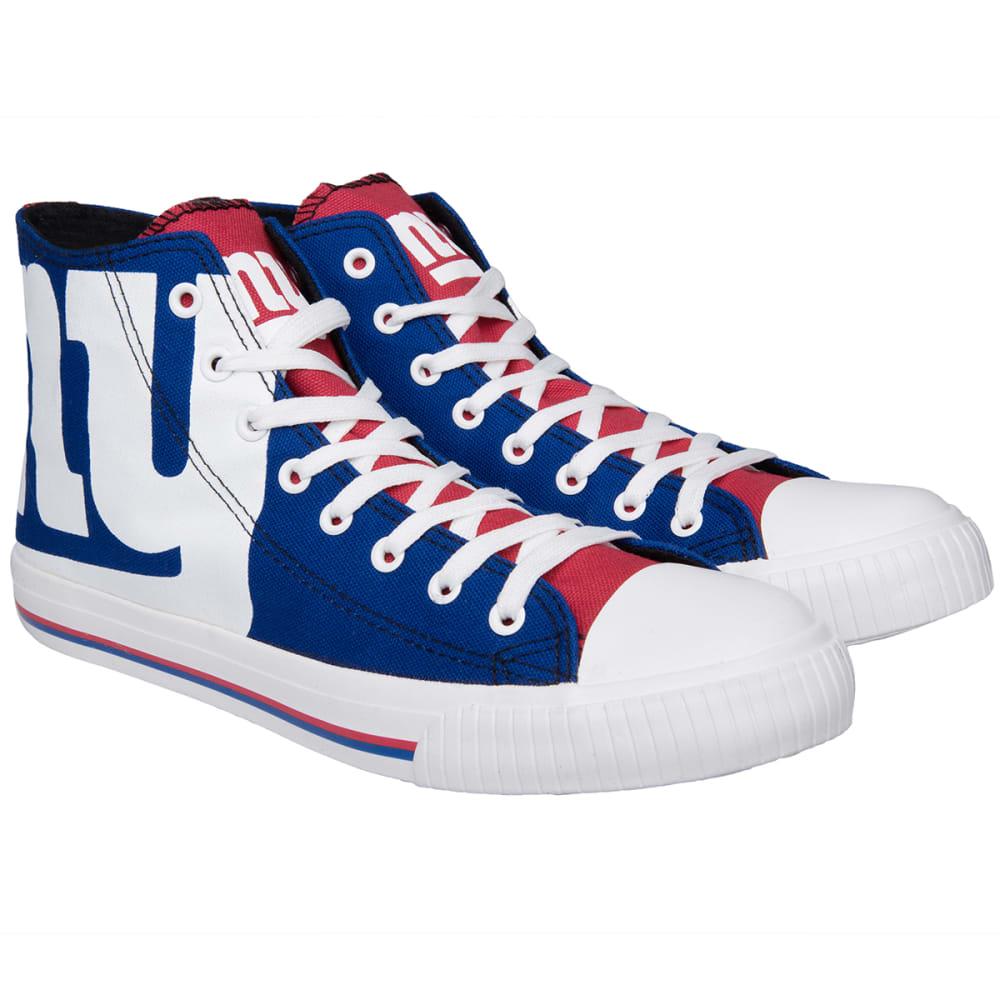 NEW YORK GIANTS Men's Big Logo High-Top Canvas Sneakers 8