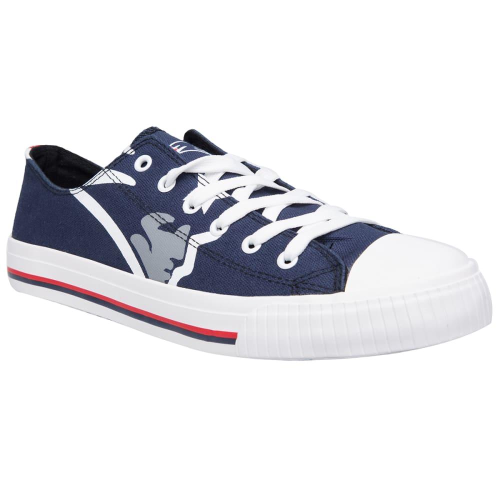 NEW ENGLAND PATRIOTS Men's Big Logo Low-Top Canvas Sneakers - NAVY