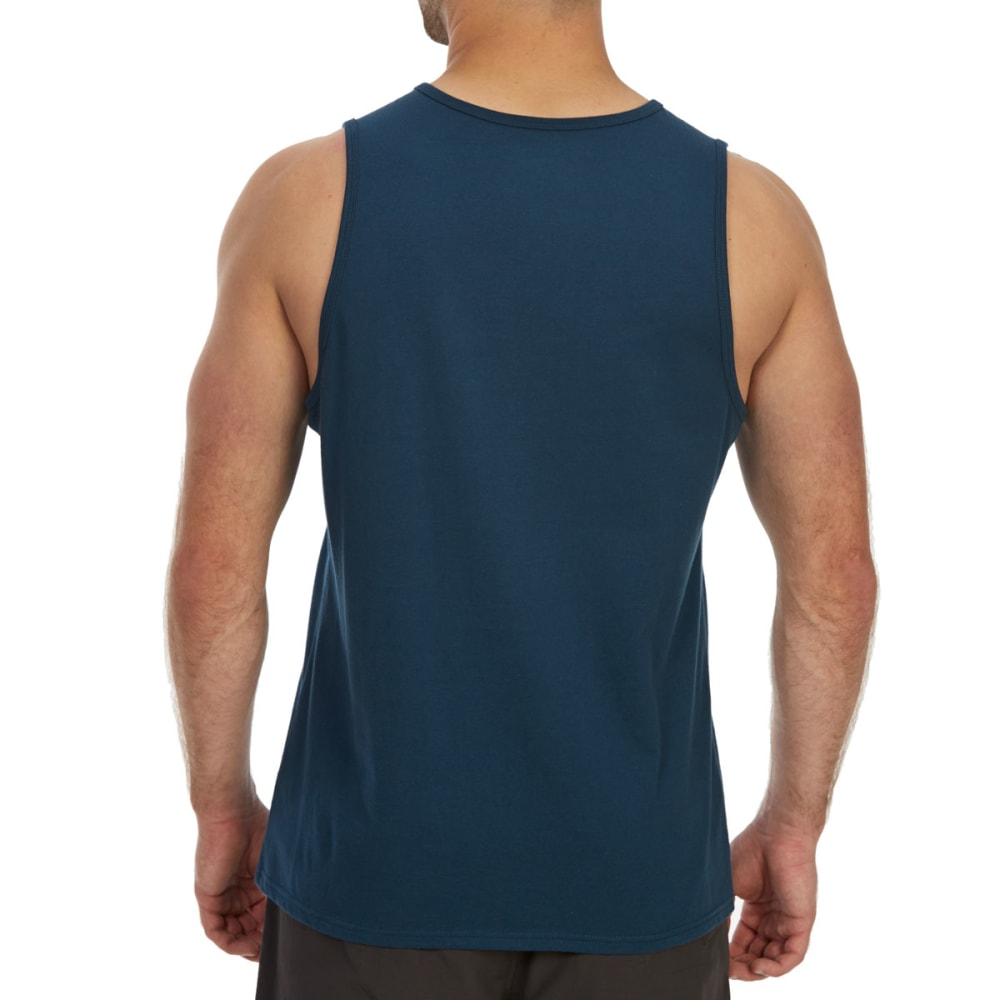 EMS Men's Solid Organic Tank Top - BLUE WING TEAL