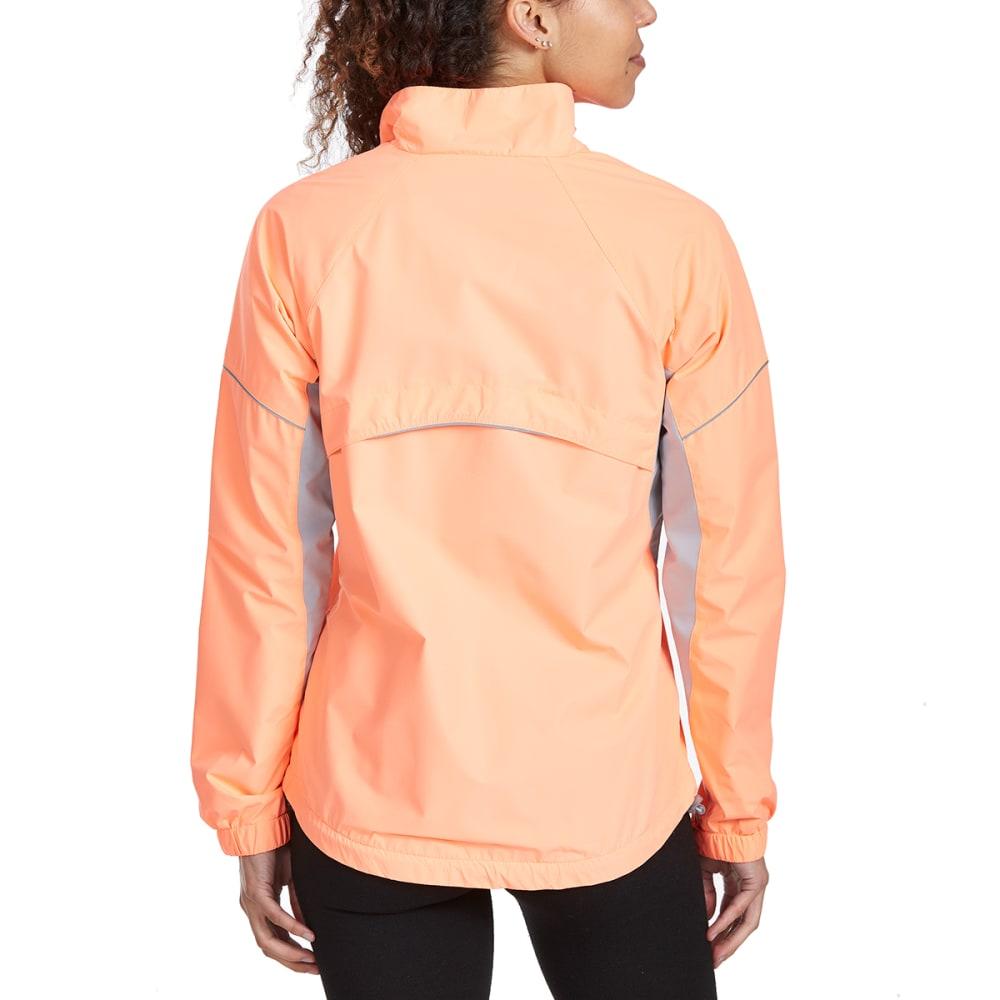 NEW BALANCE Women's Poly Dobby Mock Neck Jacket - COSMIC CORAL