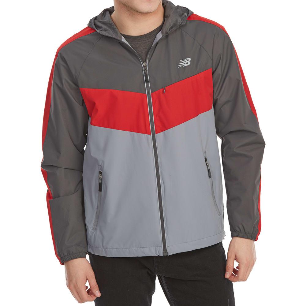 NEW BALANCE Men's Poly Dobby Color-Block Jacket L