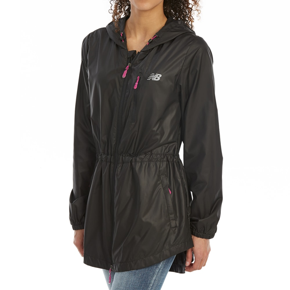 NEW BALANCE Women's Poly Cire Anorak Jacket - BLACK