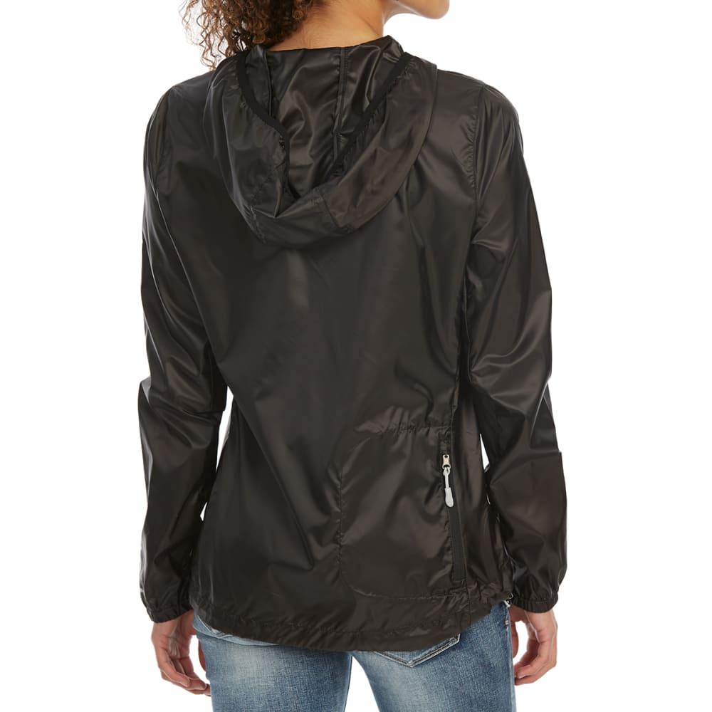 NEW BALANCE Women's Ripstop Translucent Packaway Hoodie - BLACK