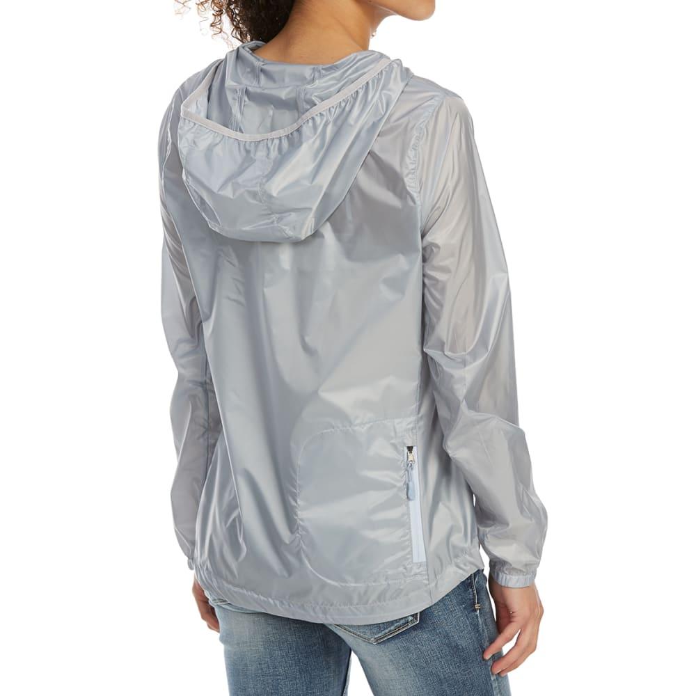 NEW BALANCE Women's Ripstop Translucent Packaway Hoodie - SILVER MINK