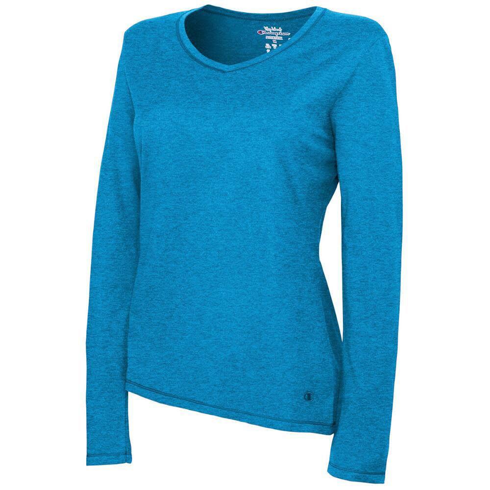 CHAMPION Women's Authentic Jersey Long-Sleeve Tee - AMETHYST-N8Z