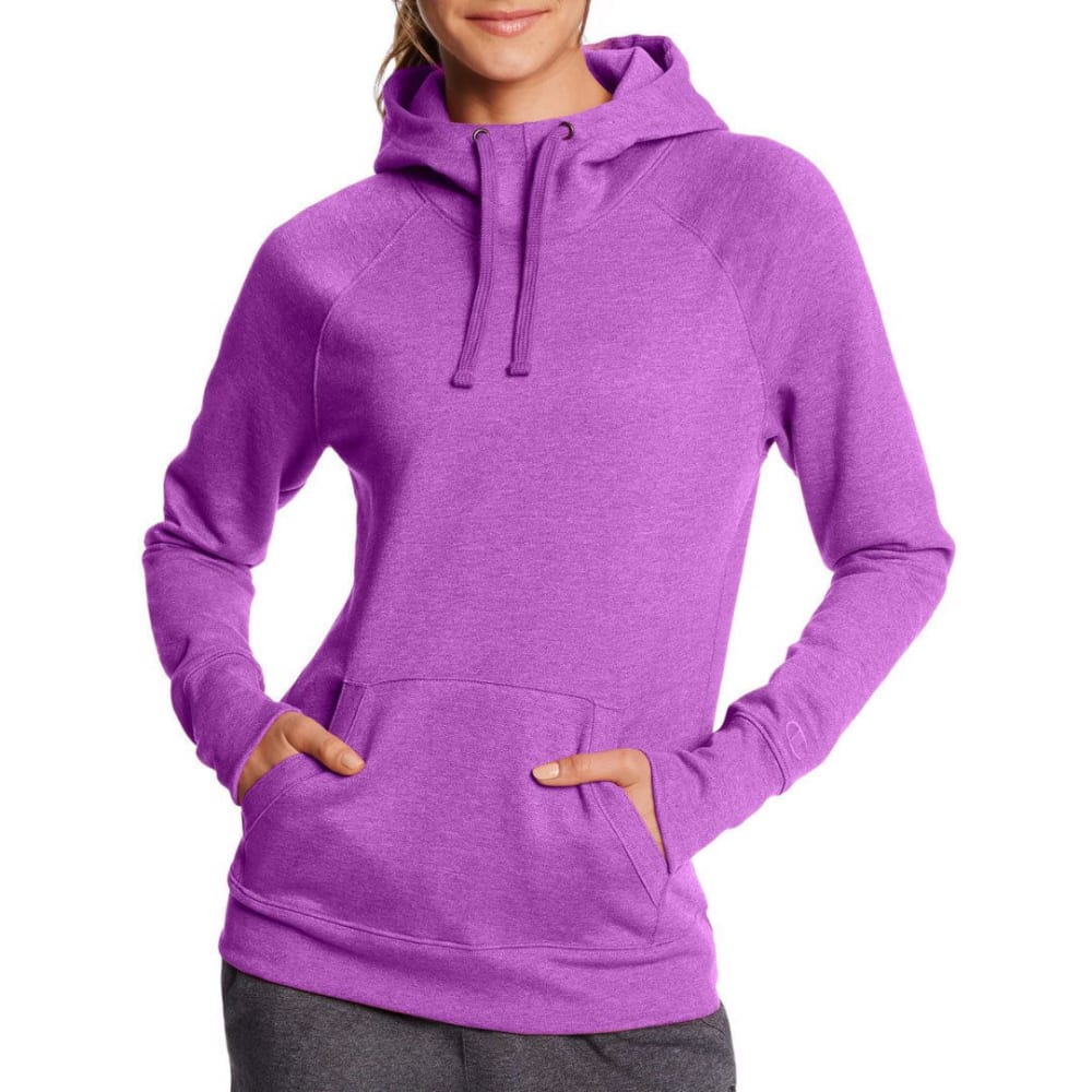 CHAMPION Women's Fleece Pullover Hoodie Sweatshirt - AMETHYST-N8Z