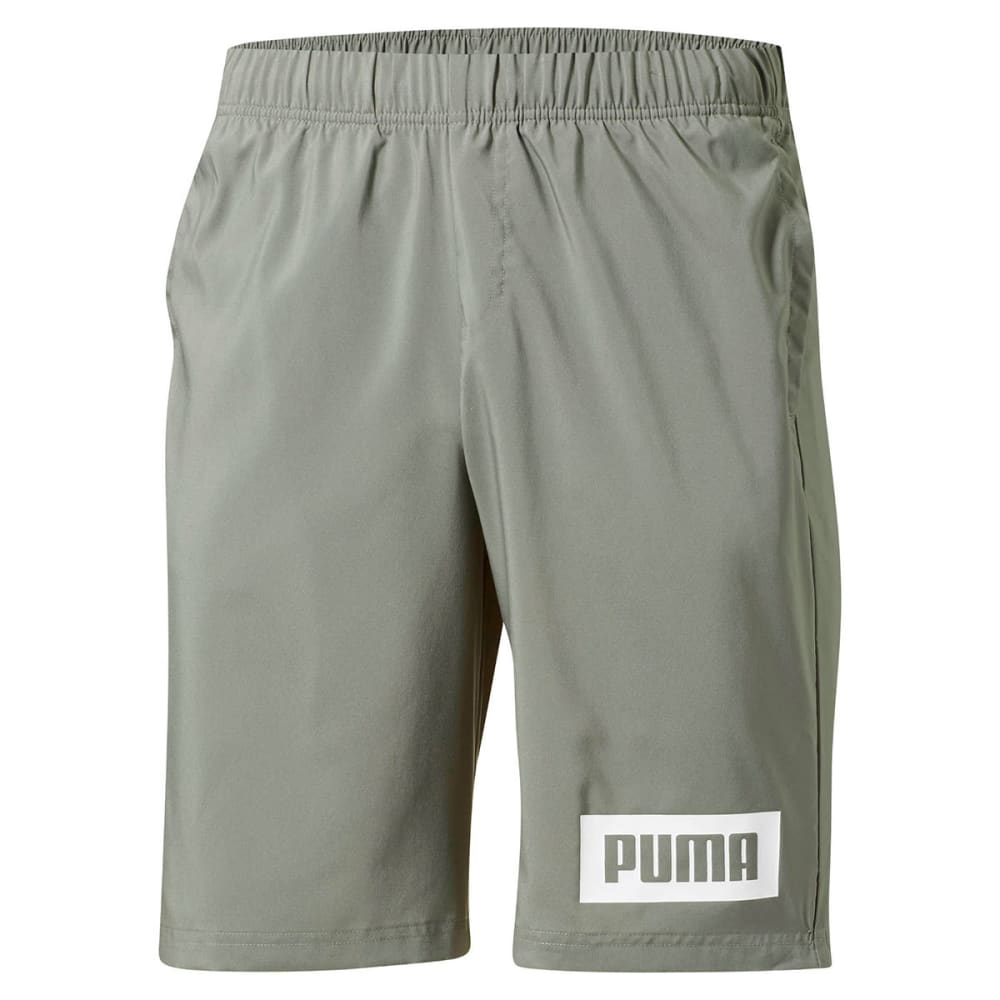 PUMA Men's Rebel Woven Active Shorts - GREY-01