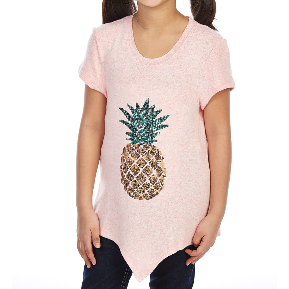 DJ & JUJU Big Girls' Pineapple Tie-Front Short-Sleeve Tee L