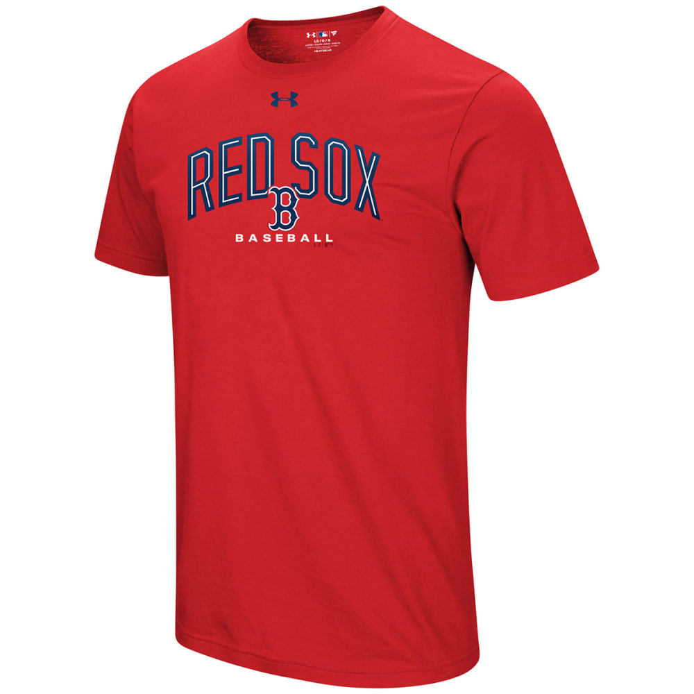 UNDER ARMOUR Men's Boston Red Sox UA Performance Arch Short-Sleeve Tee - RED