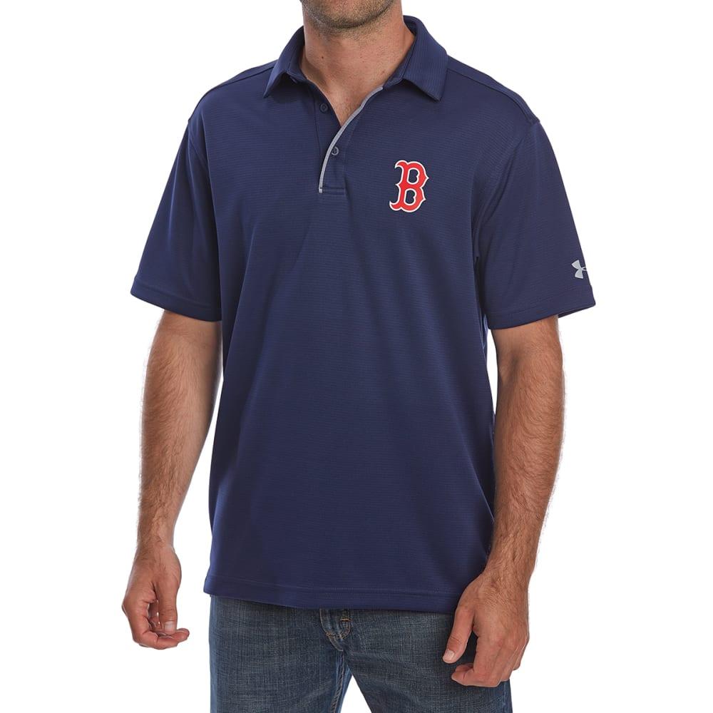 UNDER ARMOUR Men's Boston Red Sox UA Tech Left Chest Short-Sleeve Polo Shirt - NAVY