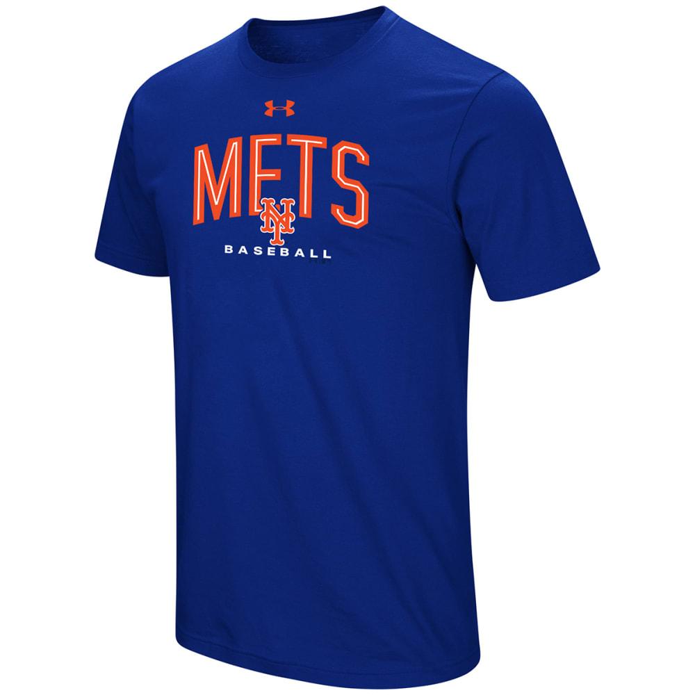 UNDER ARMOUR Men's New York Mets UA Performance Arch Short-Sleeve Tee M