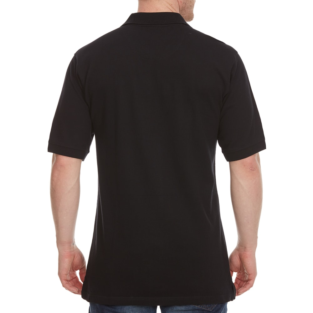 BCC Men's Pique Short-Sleeve Polo Shirt - BLACK