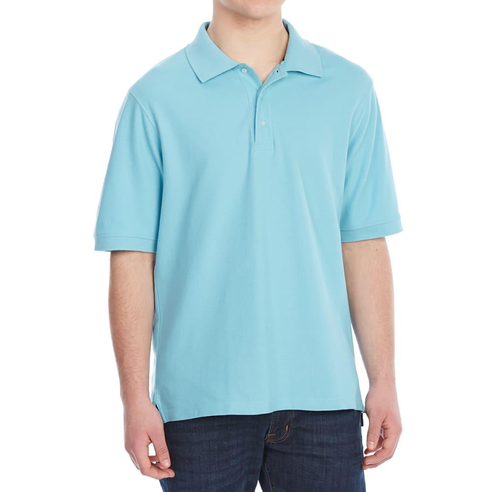 BCC Men's Pique Short-Sleeve Polo Shirt M