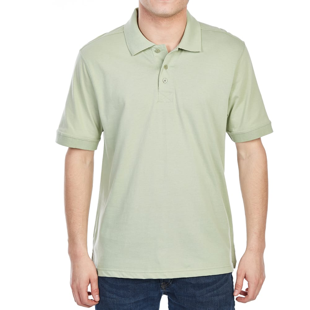 RUGGED TRAILS Men's Jersey Short-Sleeve Polo Shirt - SEA MINT