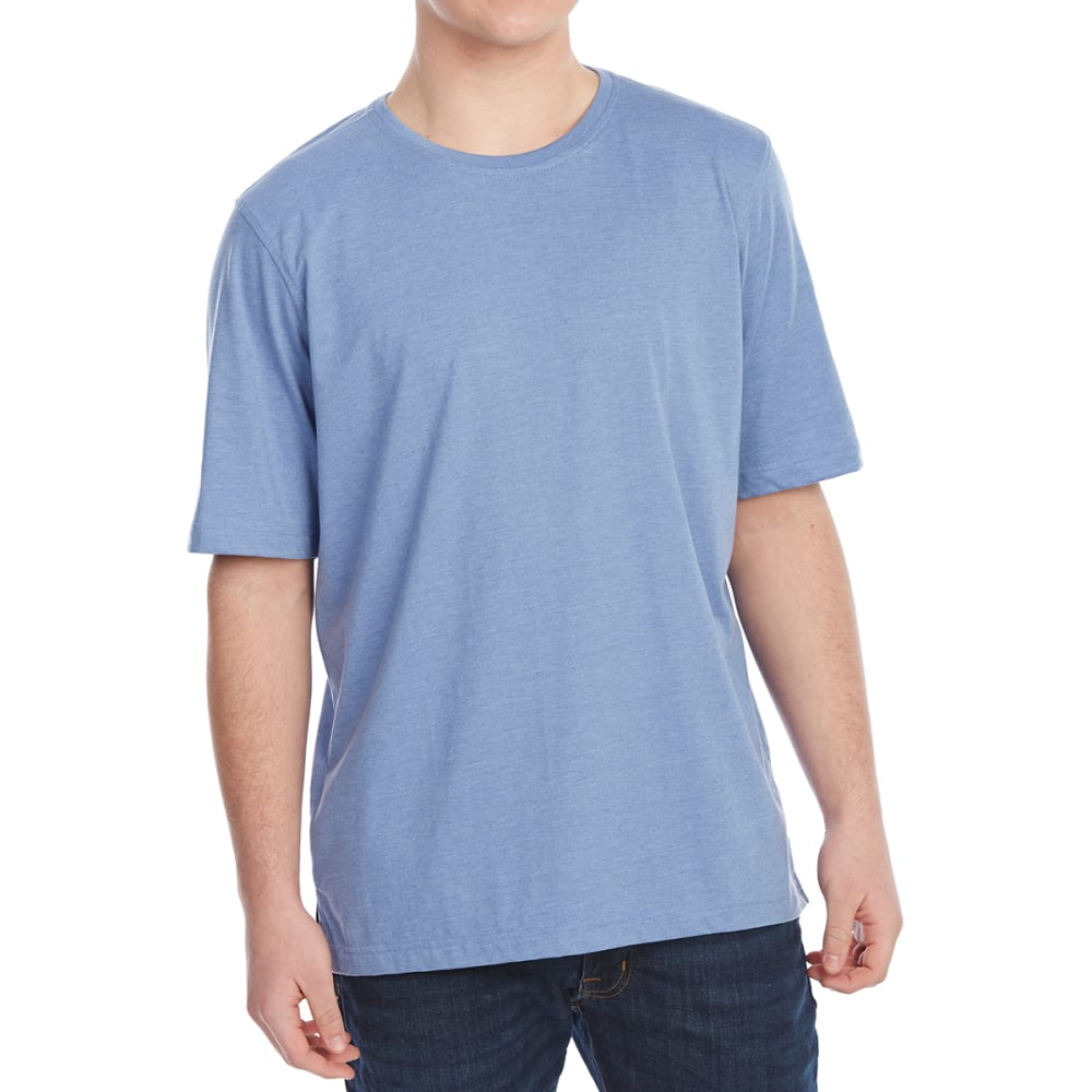 RUGGED TRAILS Men's Jersey Crewneck Short-Sleeve Tee - DENIM HEATHER