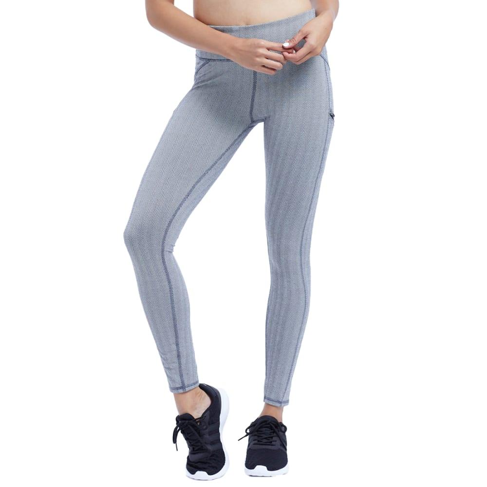 ZOBHA Women's Outsider Jacquard Leggings - BLK/WHTHERINGBNE-15J