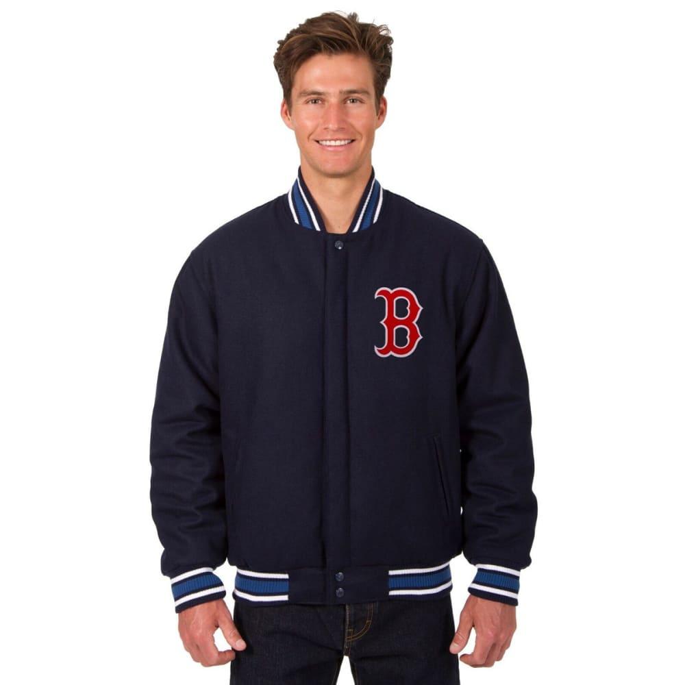 BOSTON RED SOX Men's Reversible Wool Jacket - NAVY