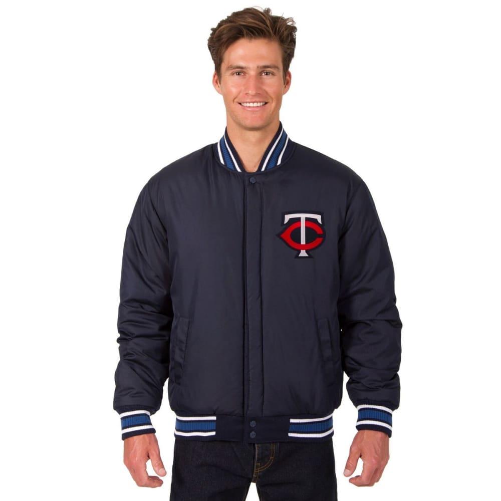 MINNESOTA TWINS Men's Reversible Wool Jacket - NAVY