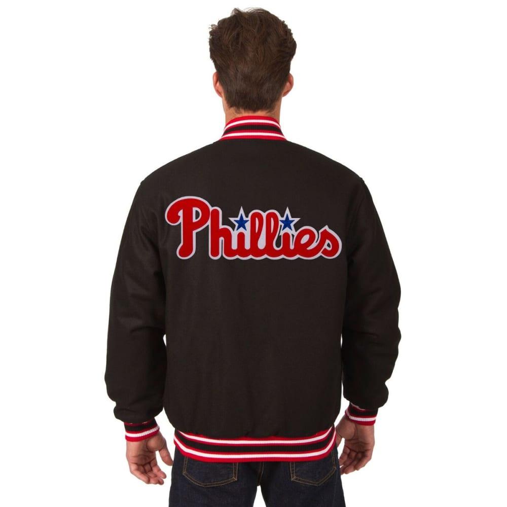 PHILADELPHIA PHILLIES Men's Reversible Wool Jacket - BLACK