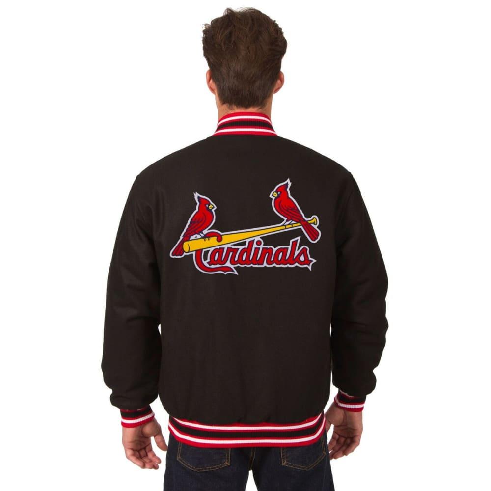 ST. LOUIS CARDINALS Men's Reversible Wool Jacket - BLACK-RED