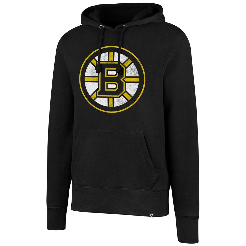 Boston Bruins Men's B Spoke Logo '47 Headline Pullover Hoodie - Black, M