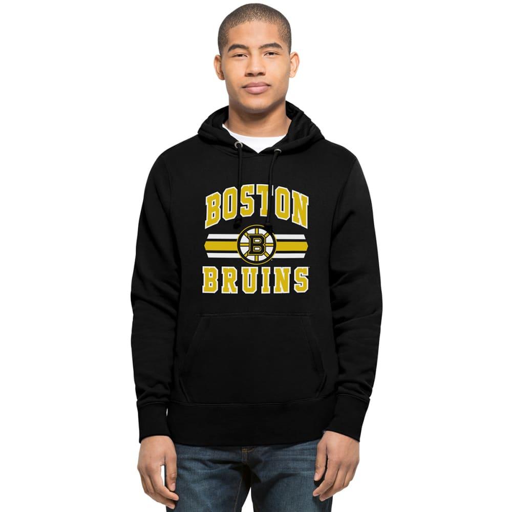 BOSTON BRUINS Men's Wordmark '47 Headline Pullover Hoodie - BLACK