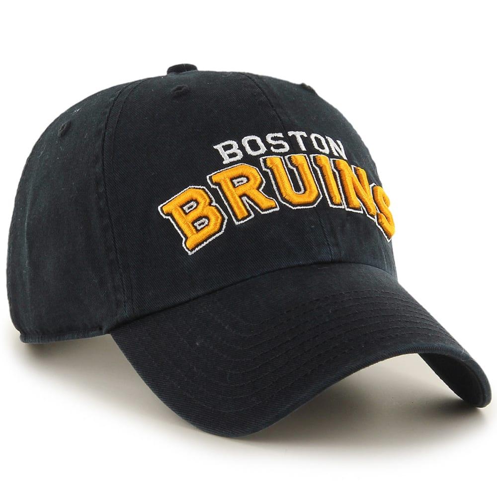 BOSTON BRUINS Men's Wordmark '47 Clean Up Adjustable Cap - BLACK